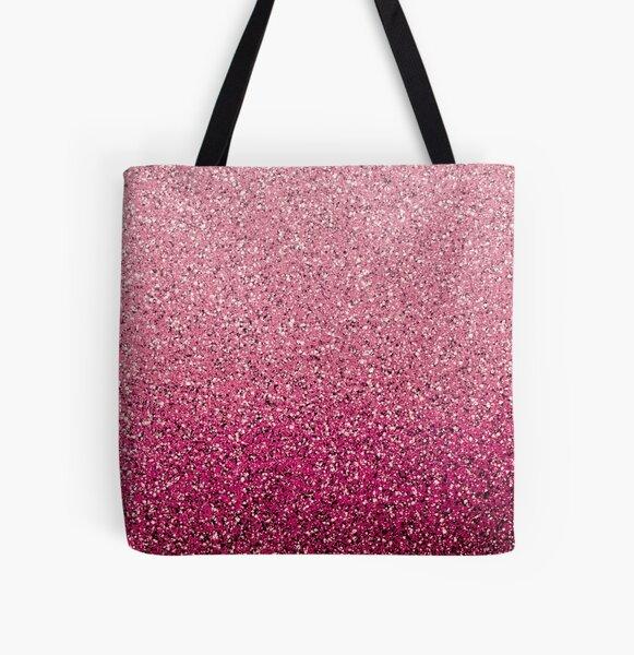 Umbridge Pink Ombré Glitter All Over Print Tote Bag