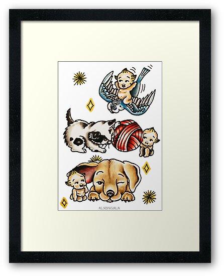 Kewpies & Baby Animals Flash  by alxbngala