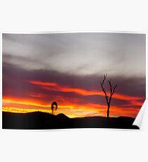 A Lockyer Valley Sunset Poster