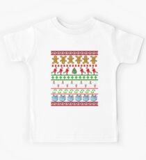 Runners Ugly Christmas Sweater  Kids Tee