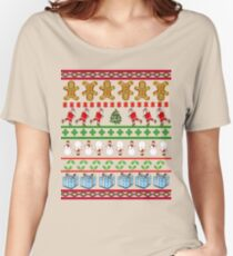 Runners Ugly Christmas Sweater  Women's Relaxed Fit T-Shirt