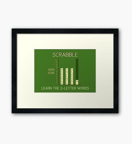 Scrabble Framed Print