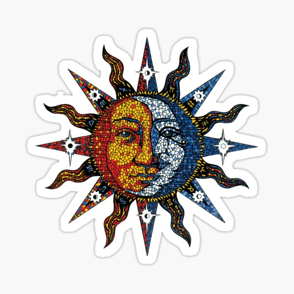 Celestial Mosaic Sun/Moon Sticker