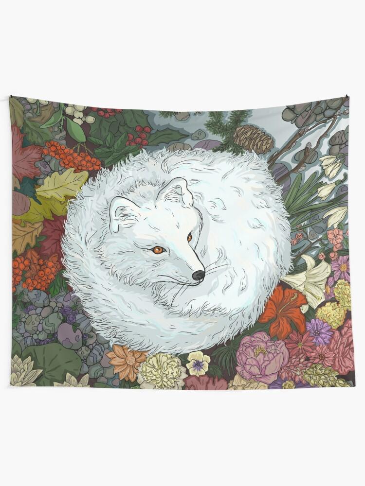 Alternate view of Arctic Fox Tapestry
