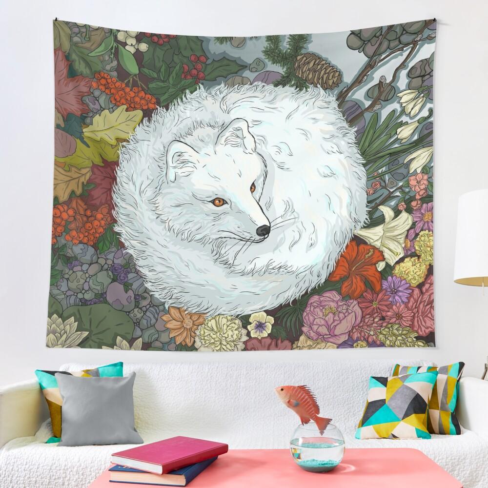 Arctic Fox Tapestry