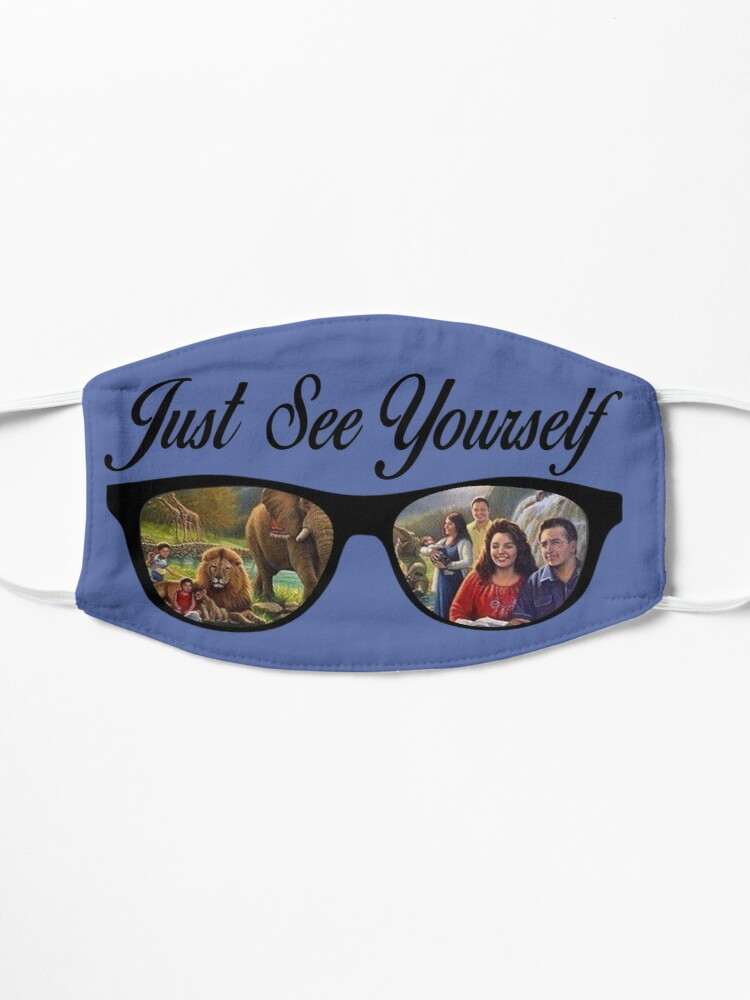 Alternate view of JW.ORG JW Face Mask for Jehovah's Witnesses Just See Yourself JW Mask