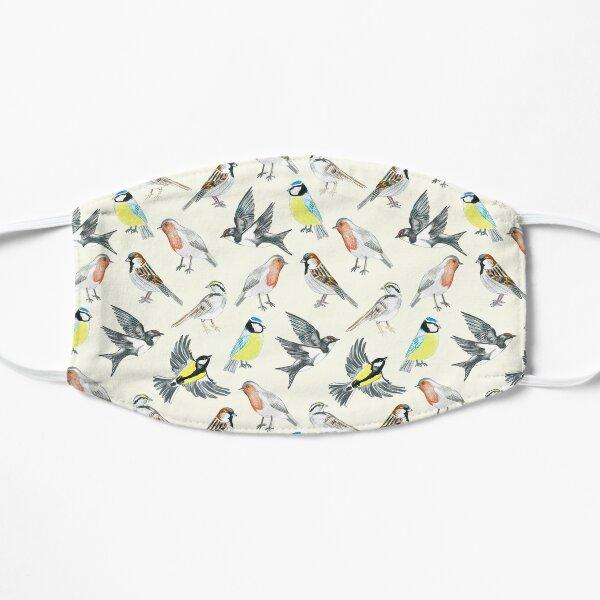 Illustrated Birds Flat Mask