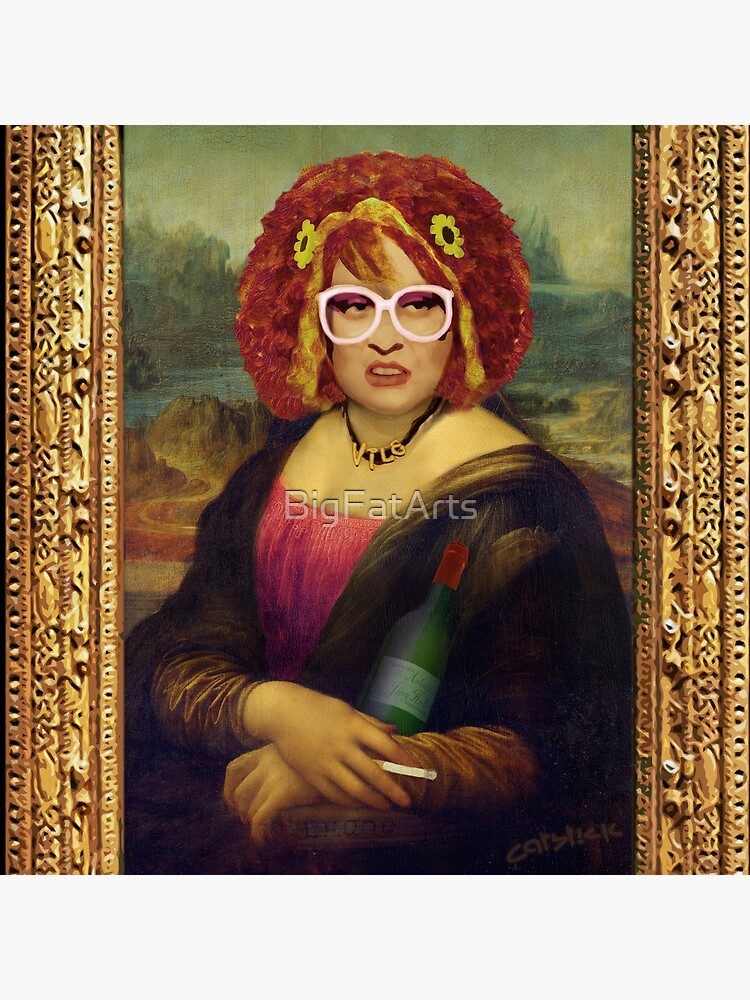 Moaner Linda (Gold Frame) by BigFatArts