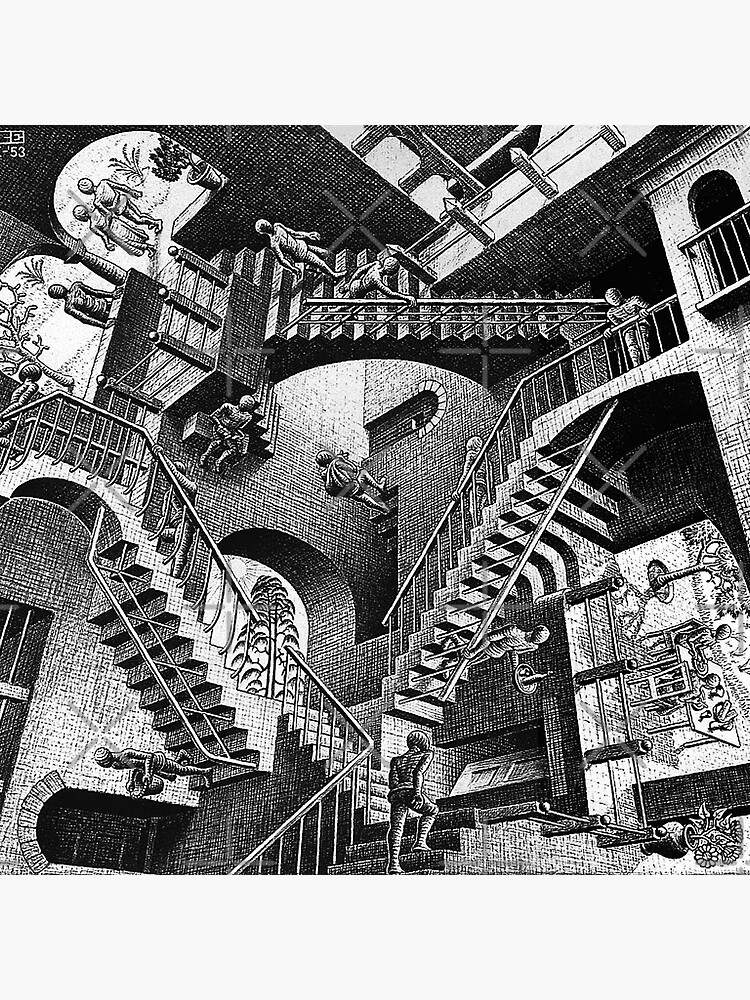 M.C. Escher - Relativity  by Pikokk
