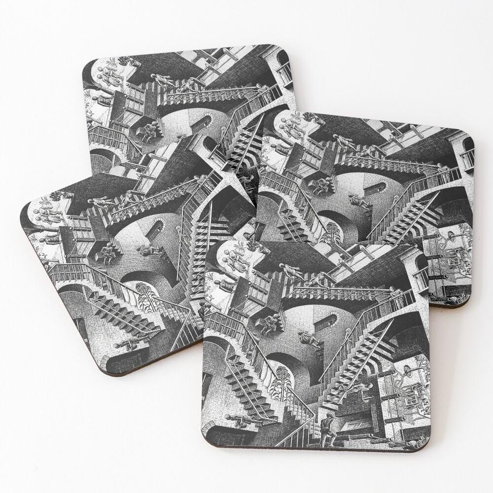 M.C. Escher - Relativity  Coasters (Set of 4)