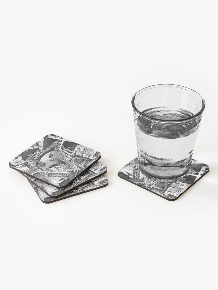Alternate view of M.C. Escher - Relativity  Coasters (Set of 4)