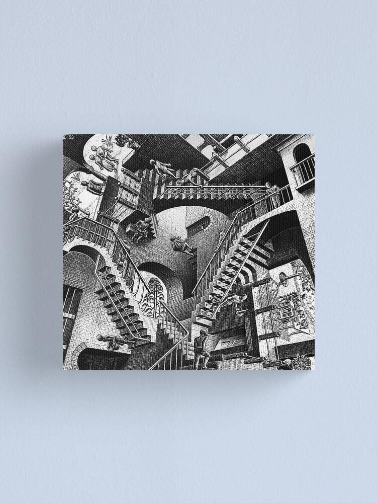Alternate view of M.C. Escher - Relativity  Canvas Print