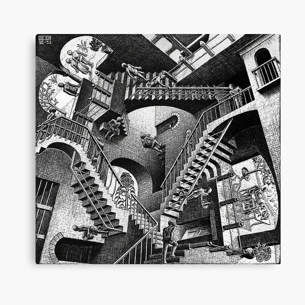M.C. Escher - Relativity  Canvas Print