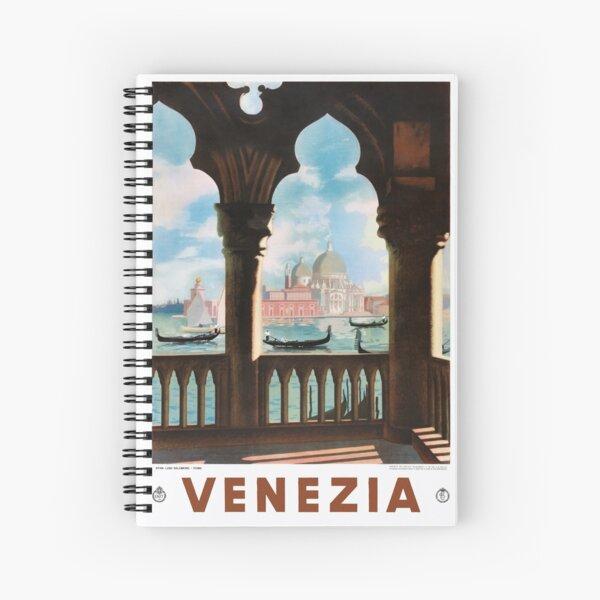 Venice Venezia ENIT Italy Vintage Travel Poster Restored Spiral Notebook