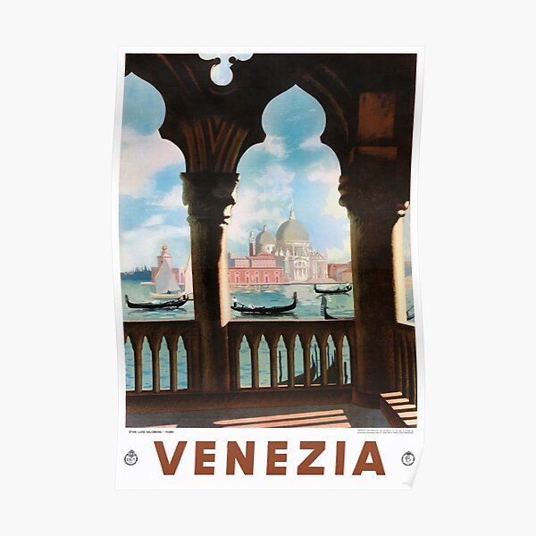 Venice Venezia ENIT Italy Vintage Travel Poster Restored Poster