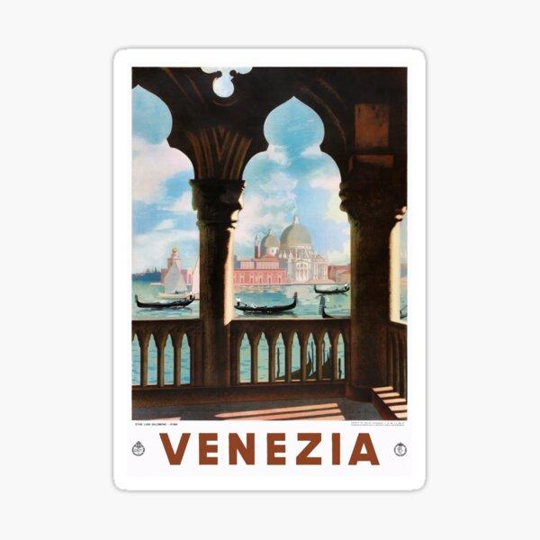 Venice Venezia ENIT Italy Vintage Travel Poster Restored Sticker