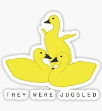 Baby geese - goslings! They were juggled! Sticker
