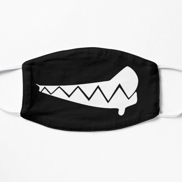 Cute Teathshowing  Kawaii Anime Face Mouth Black Flat Mask