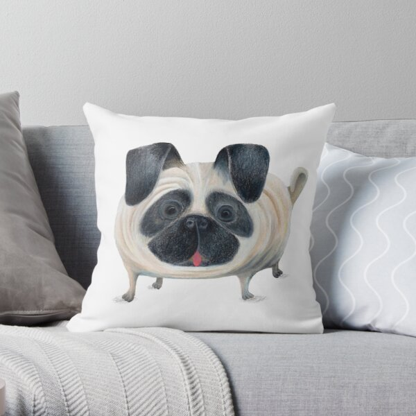 pugster the 3rd Throw Pillow