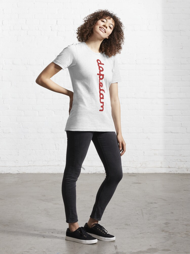 "Alternate view of DopeFam Apparel ""illadelph"" Font Verticle T Essential T-Shirt"