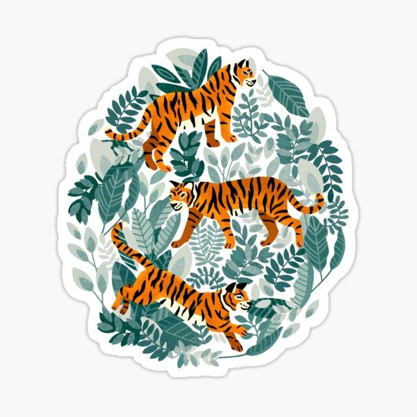 Bangel Tiger Teal Jungle  Sticker