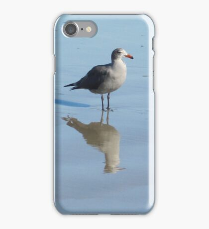 Gull and Reflections, Blue Tint iPhone Case/Skin