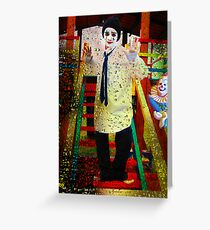 TEARS OF A CLOWN Greeting Card
