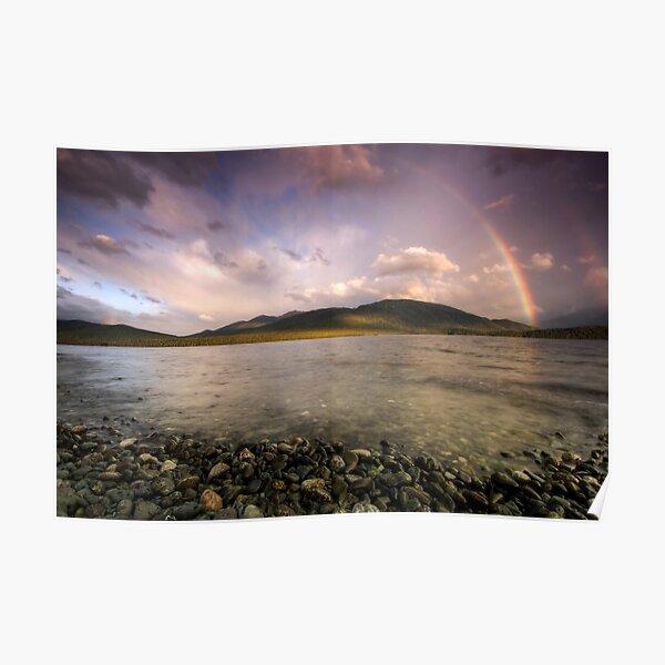 Rainbows Over Fiordland Poster
