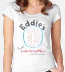 Eddie's Fresh Lobstrosities of the Western Sea Women's Fitted Scoop T-Shirt