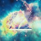 Awsome collosal deep space triangle art sign by badbugs