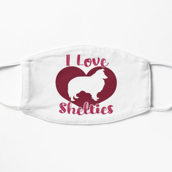 I Love Shelties Mask