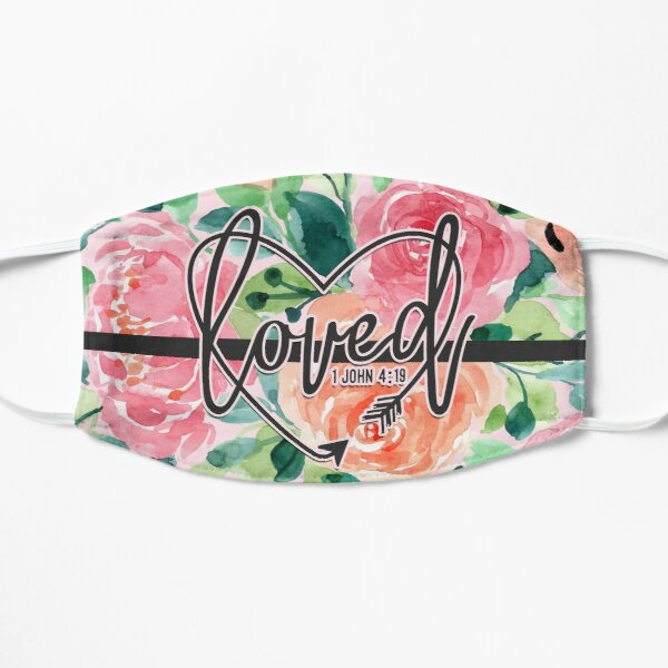 Hand Painted Floral Watercolor - Loved [01] Mask