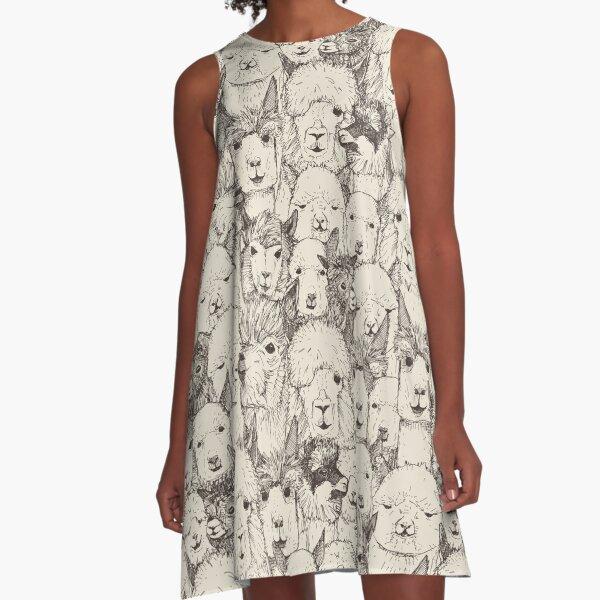 just alpacas natural A-Line Dress