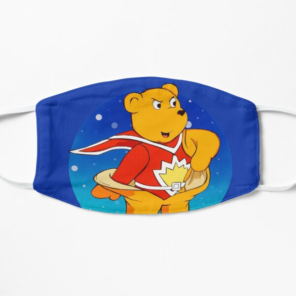 Superted the retro teddy bear Flat Mask