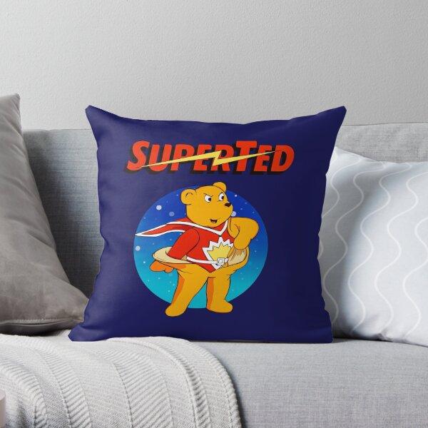 Superted the retro teddy bear Throw Pillow