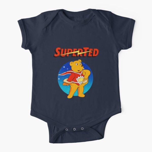 Superted the retro teddy bear Short Sleeve Baby One-Piece