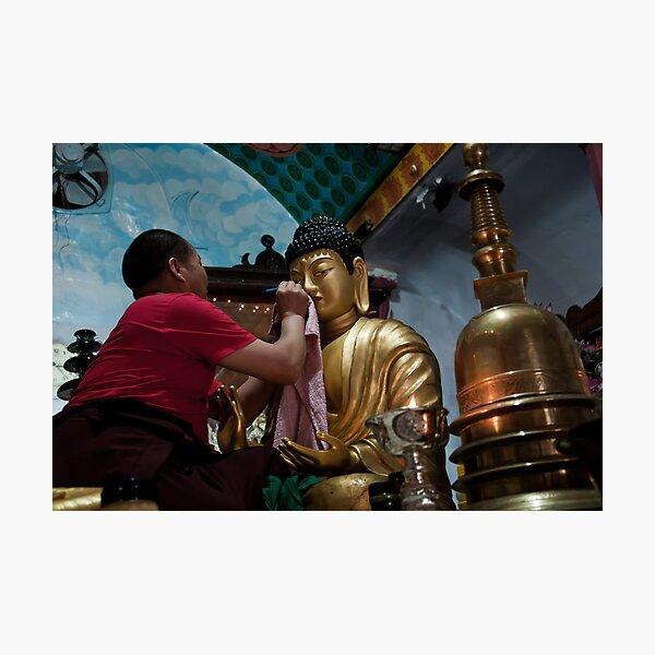 Buddha in making Photographic Print