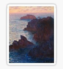 Rocks at Belle-lle, Port-Domois by Claude Monet Sticker