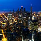 Chicago in Mist by Eric Tsai