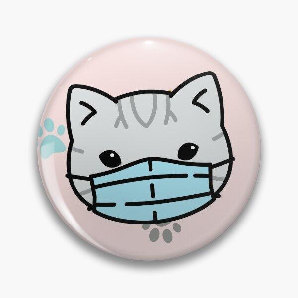 Kawaii Cat Quarantine Pin