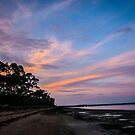 Sunset beach by Louise Delahunty
