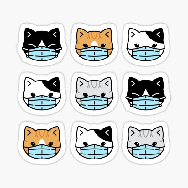 Kawaii Cat Quarantine Sticker