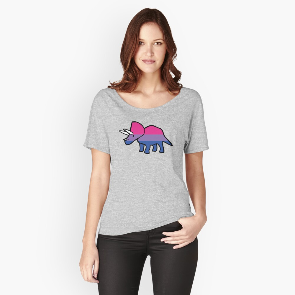 Biceratops (Bisexual Triceratops) Relaxed Fit T-Shirt