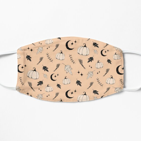 Halloween, pumpkin, moon, stars and leaf Flat Mask