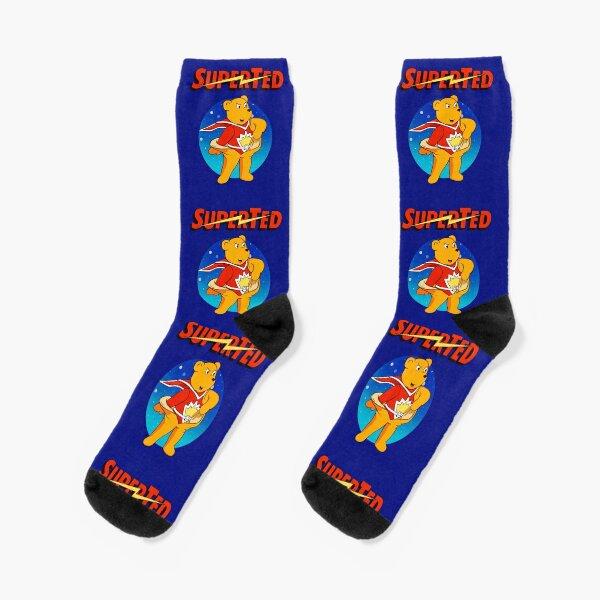 Superted the retro teddy bear Socks