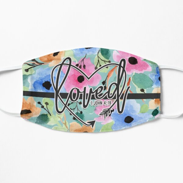 Hand Painted Floral Watercolor - Loved [05] Mask