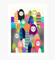 Pebble Spirits Art Print