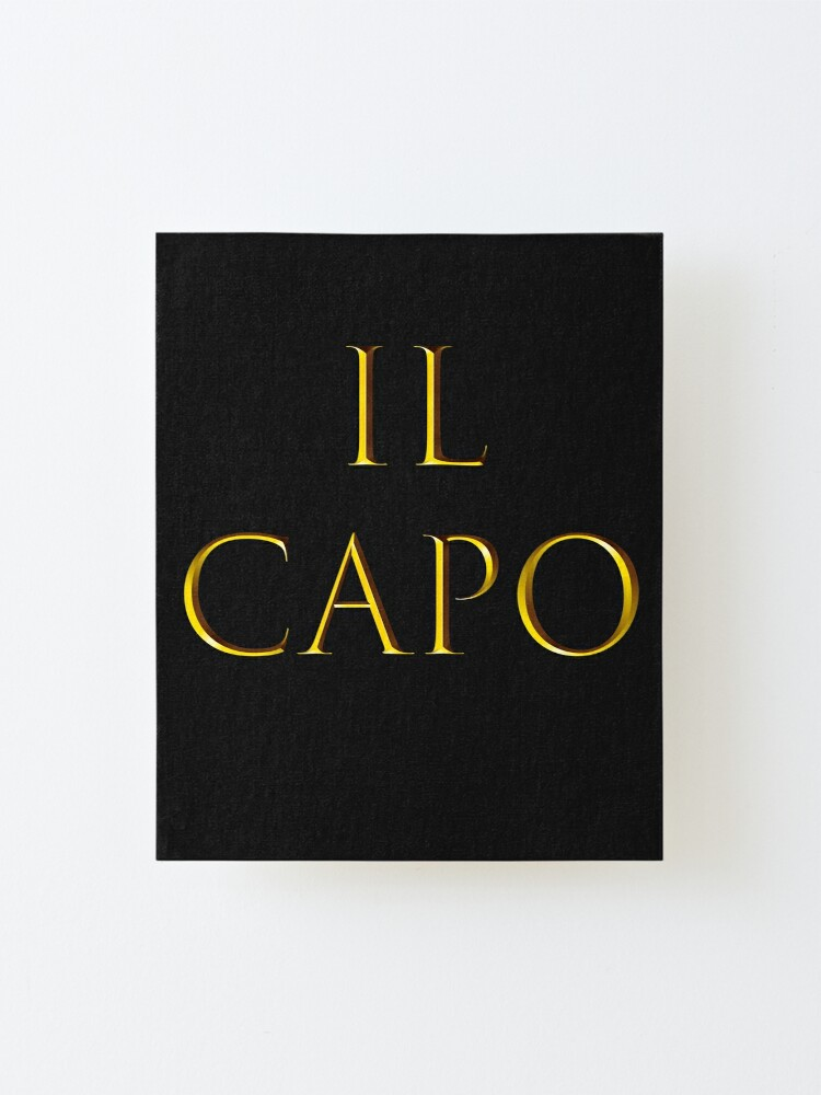 Alternate view of IL Capo Mounted Print