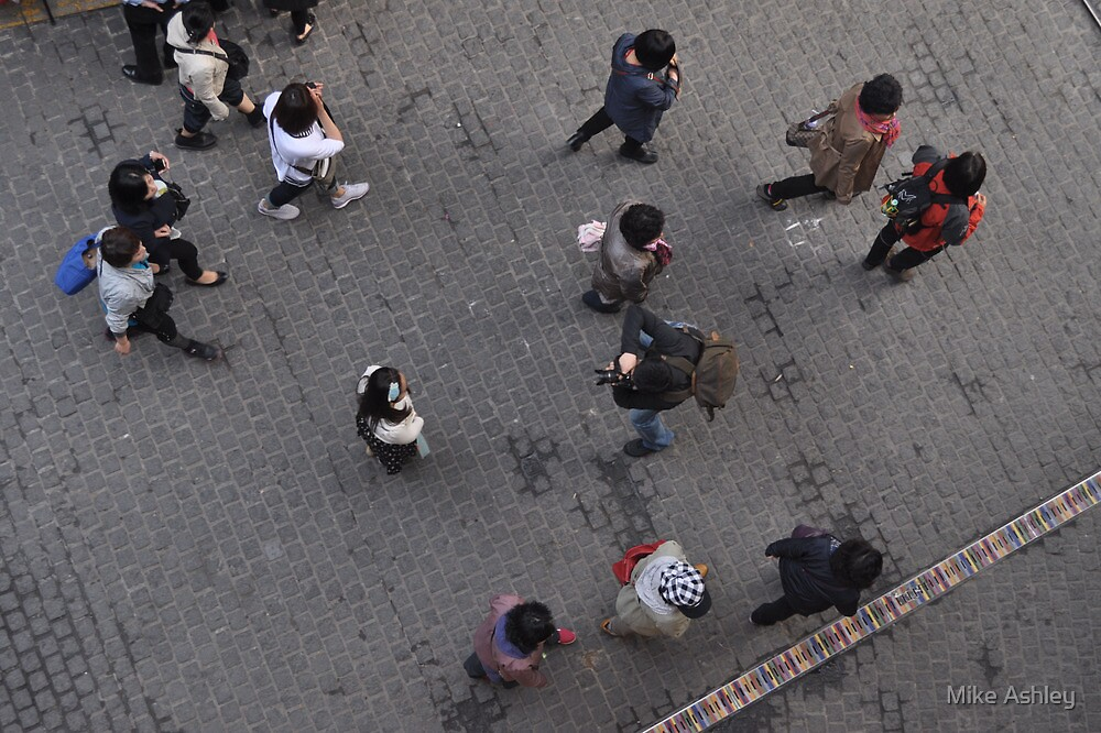Looking Down on Shoppers (3) by Christian Eccleston