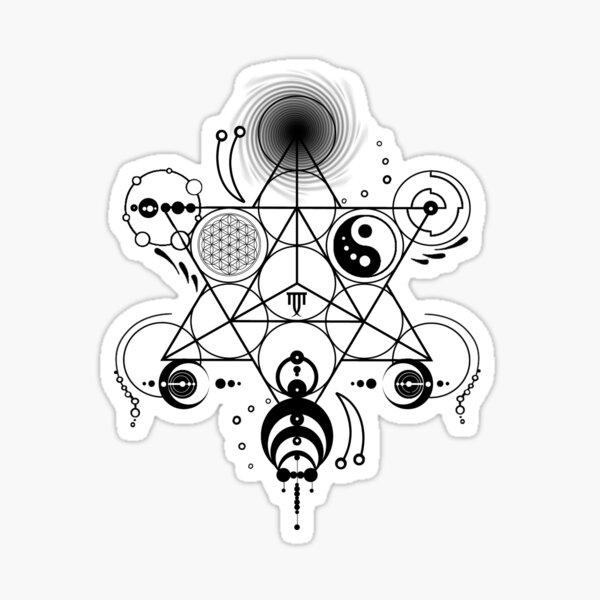 Sacred Geometry - Crop Circles - Manafold Art Sticker